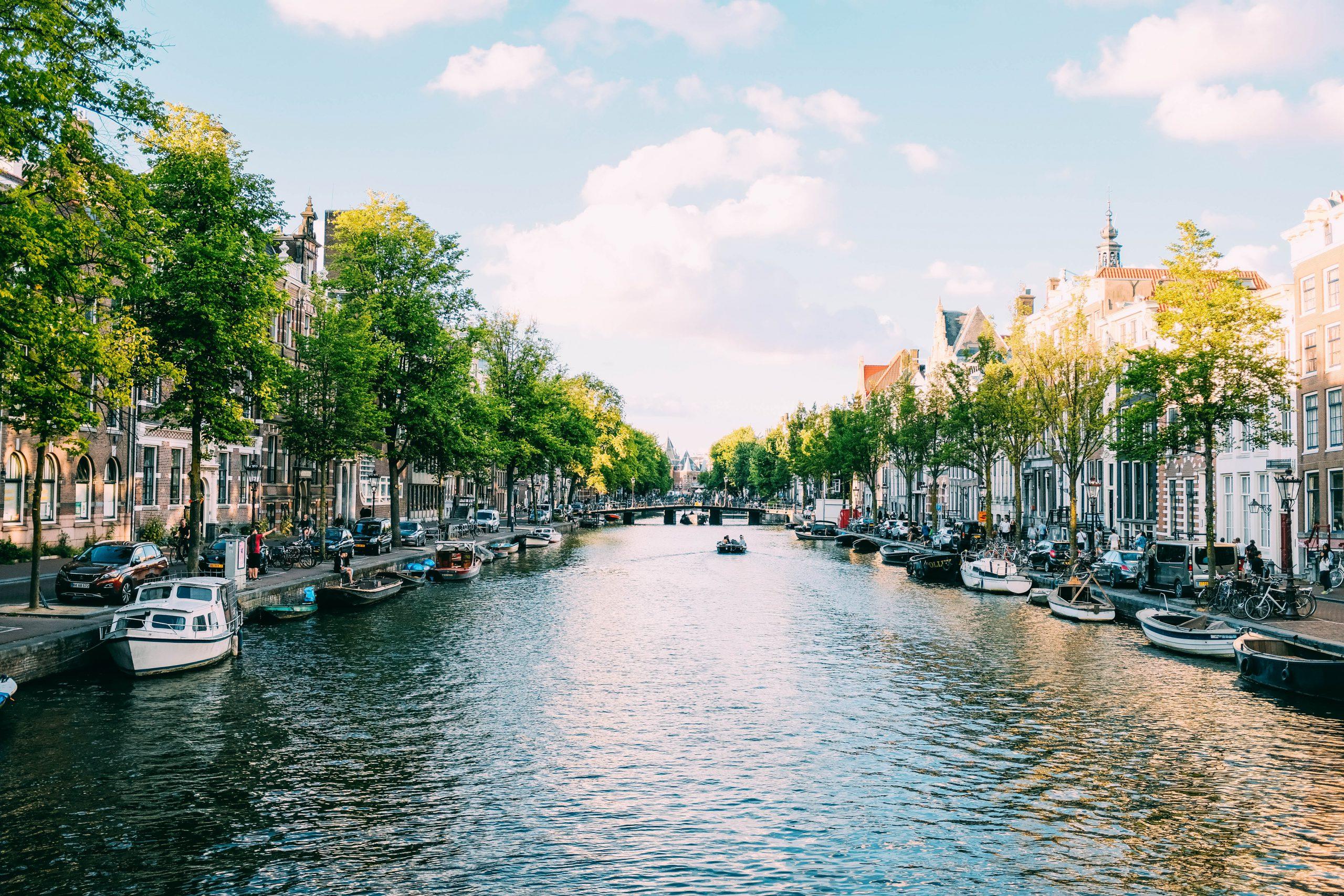 Photo des canaux d'Amsterdam